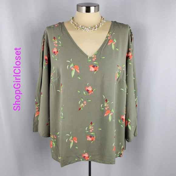 💥Just In💥AVA & VIV Floral Top...Size X